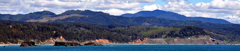 Photo Port Orford mountains