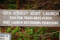 Photo 12th Street Boat Lanch sign
