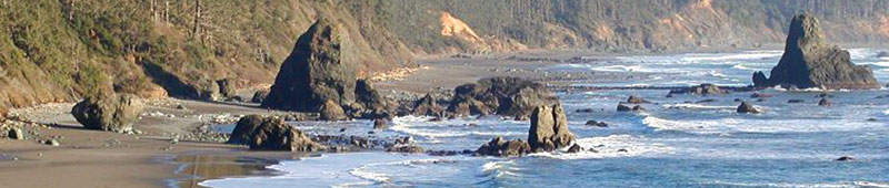 Photo shore in Port Orford Bay