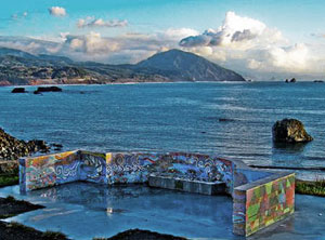 Photo of mosaic Overlook of Port Orford Bay and Humbug Mountain